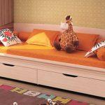 Кровать-диван подростковая с выдвижными ящиками