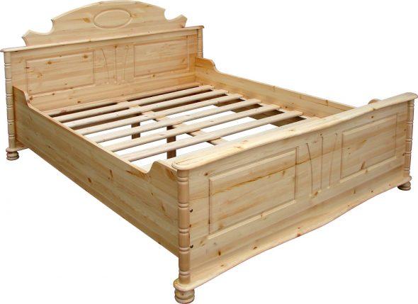 Кровать двуспальная-сосна