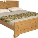 Кровать из дерева Нефертити