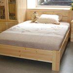 Кровать из массива сосны изготовления на фото