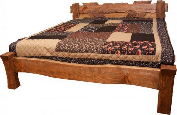 Кровать из массива сосны под старину фото