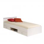 Кровать односпальная 90 190 с дополнительными ящиками для хранения бель