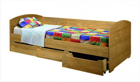 Кровать односпальная с ящиками ГМ-9292