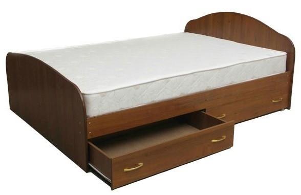 Кровать с матрасом с ящиками