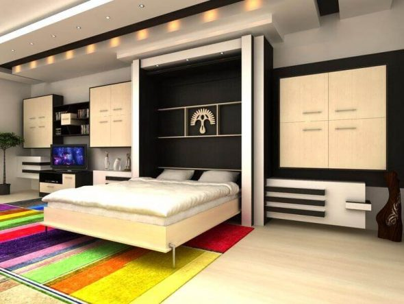 Кровать встраиваемая в стене
