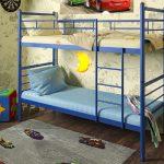 Металлическая двухъярусная кровать Акварель