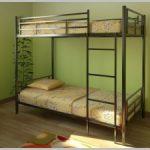 Металлическая двухъярусная кровать Пинто-1