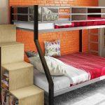 Металлическая красивая кровать