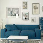 Многоцветные диваны бывает трудно вписать в уже существующий интерьер