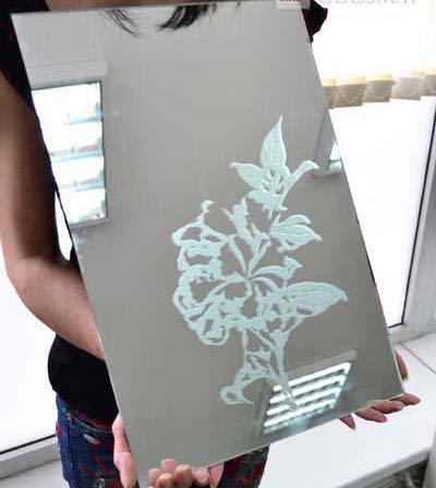 Монтирование зеркала установленного в дверцу шкафа-купе