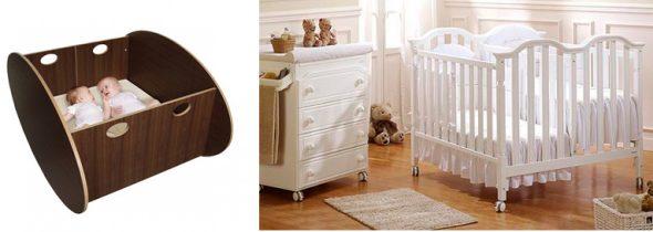 На картинке представлены Кроватки для двойни