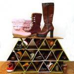 Обувной стеллаж из картона