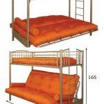 Оптимальная Двухъярусная кровать 2-х ярусная с диваном