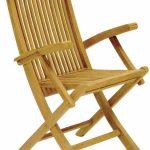 Складной дачный стул с подлокотниками