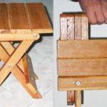 Складной стульчик своими руками-изготовления
