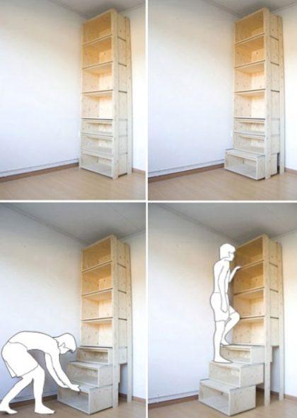 Стеллаж-лестница