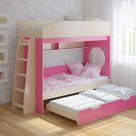 Выдвижная кровать для троих детей Легенда