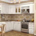 угловая кухня белый гарнитур