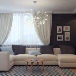 бежевый диван в интерьере