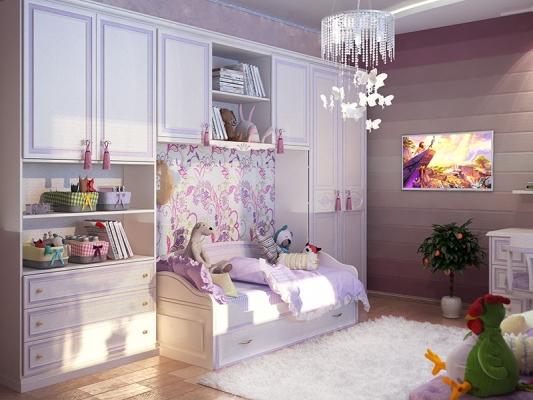 детская комната для девочки в классическом стиле