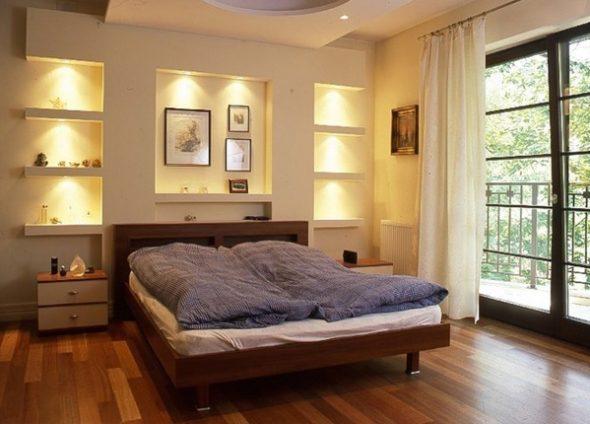 дизайн спальни с нишей