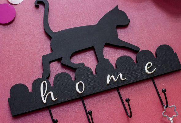 ключница кошка