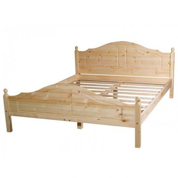 двуспальная кровать бесцветный лак