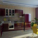 фиолетовой кухонный гарнитур
