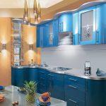 кухонные шкафы голубые