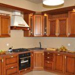 угловая кухня гарнитур дерево