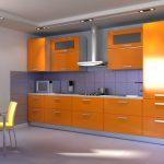 кухонные шкафы оранжевые