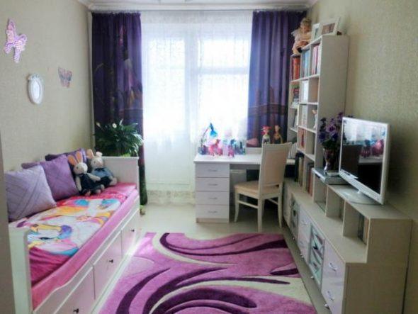 яркость цветовой гамми в комнате