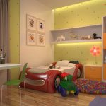 комната для двух разнополых детей зона мальчика