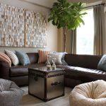 диван уголок коричневый