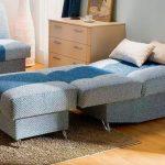 кресло кровать голубое