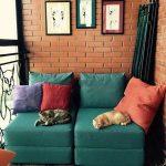 кресло кровать бирюзовое