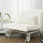 кресло кровать икеа белое