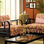 кресло кровать с принтом цветы