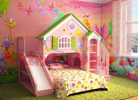 кровать-домик для принцесси