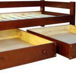 односпальная кровать с выдыижными ящиками и ортопедическим матрасом