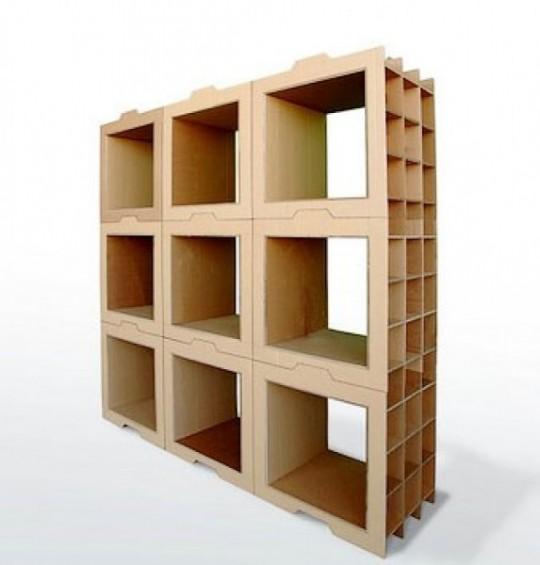 прямоугольный картонный стеллаж