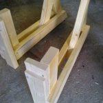 раскладной стол для пикника своими руками-заготовка