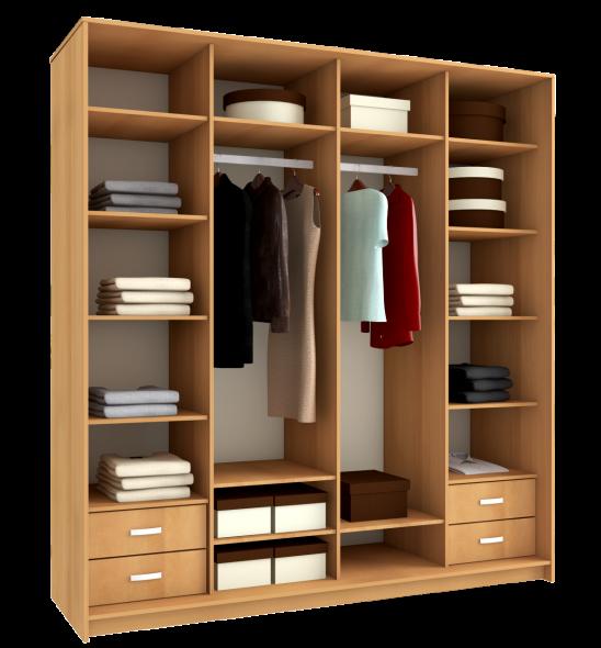 размещение вещей в шкафу