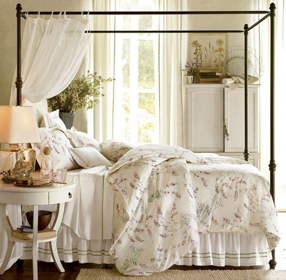 спальня в стиле прованс-декор