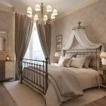 спальня в стиле прованс с балдахином
