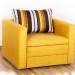кресло кровать желтое