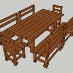 Деревянный стол для дачи своими руками-вариант оформления