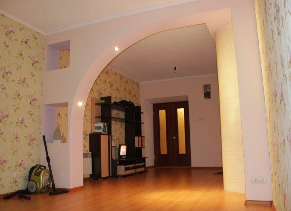 Дизайн арок из гипсокартона