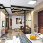 Дизайн интерьера однокомнатной квартиры 39 кв. м
