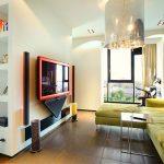 Дизайн кухни-гостиной 20 кв. м. с перегородкой